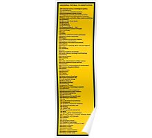 Library Sign - Universal Decimal Classification Poster