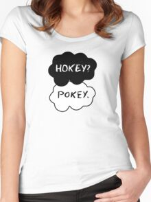 Hokey?  Pokey. Clouds Women's Fitted Scoop T-Shirt