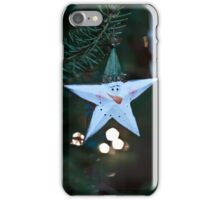 Star Snowman - Holiday Bokeh, Fine Art Photography iPhone Case/Skin