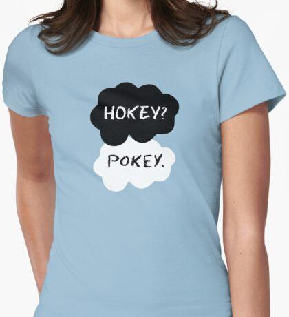 Hokey?  Pokey. Clouds Womens Fitted T-Shirt