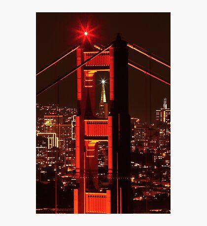 San Francisco Christmas  Photographic Print