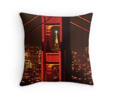 San Francisco Christmas  Throw Pillow