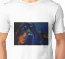 In the blue Unisex T-Shirt