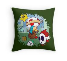 Treasure Tracked: Captain Toad's Fortune (Alt Version. No text) Throw Pillow