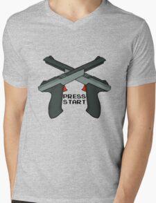 "Just Press ""Start"" Mens V-Neck T-Shirt"