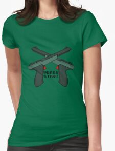 "Just Press ""Start"" Womens Fitted T-Shirt"