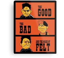 Angel - The Good, the bad, and the made of felt Metal Print
