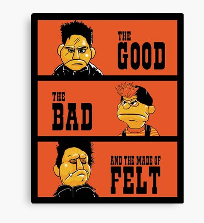 Angel - The Good, the bad, and the made of felt Canvas Print