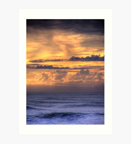 A Sunset on the Pacific Art Print