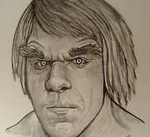 Incredible Hulk, Lou Ferrigno drawing by RobCrandall