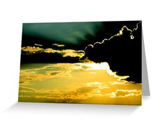 Behind Shadows Greeting Card