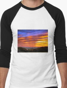 Sauble Beach Sunset Men's Baseball ¾ T-Shirt