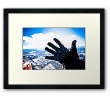 Freezing Hand Framed Print