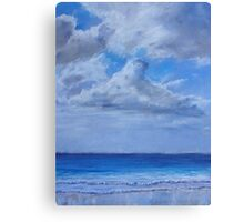 Clouds over sea Canvas Print