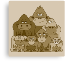 Meet the Sweetcheeks family Canvas Print