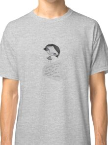 The Grey Girl and the moon Classic T-Shirt