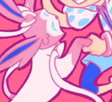 PokeFree! (Nagisa and Sylveon) Sticker
