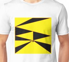 Triangle Yellow, Black, and Red Unisex T-Shirt