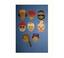 Wes Anderson's Hats Art Print