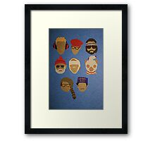 Wes Anderson's Hats Framed Print
