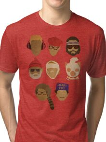 Wes Anderson's Hats Tri-blend T-Shirt