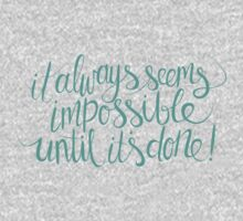 impossible + possible (teal) Kids Clothes