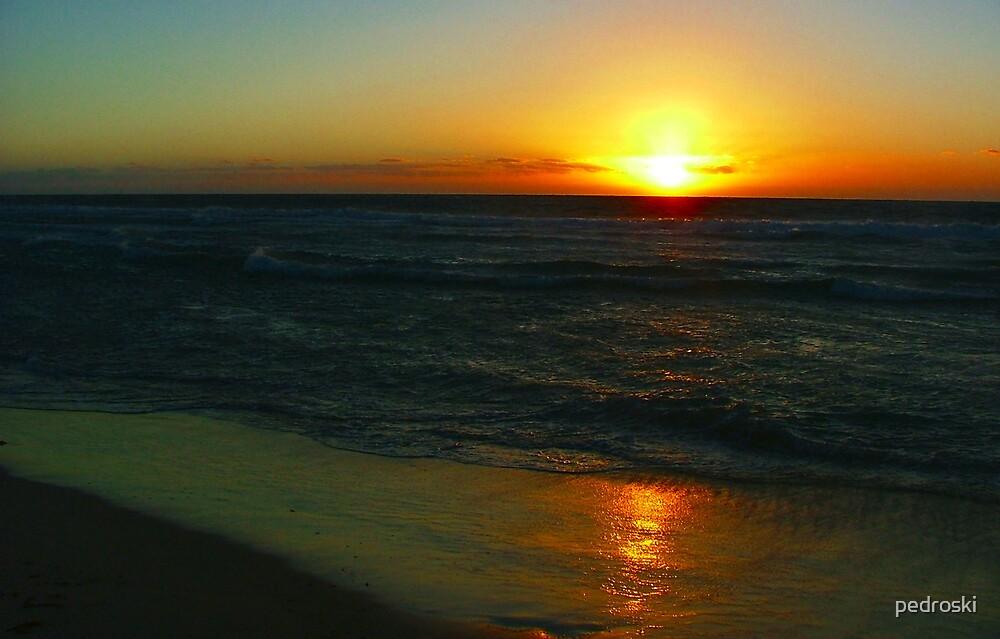 Indian Ocean Sunset  by pedroski