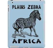 PLAINS ZEBRA iPad Case/Skin
