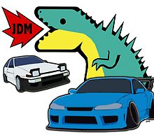 JDM dino & cars by sahyalowe