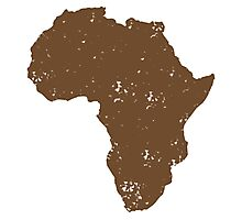 Map shape continent of AFRICA (distressed) Photographic Print
