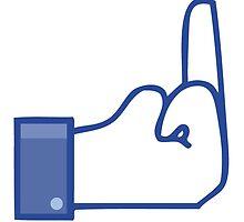 Facebook dislike / finger/ flip bird  by moebiusdesigns