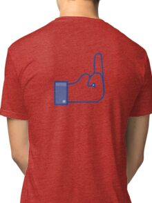 Facebook dislike / finger/ flip bird  Tri-blend T-Shirt