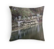 Shimmering Ice Throw Pillow