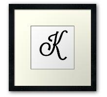 K Framed Print