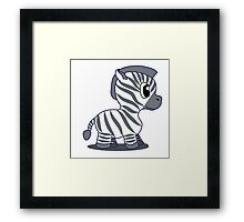 Baby Zebra Framed Print