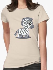Baby Zebra Womens Fitted T-Shirt