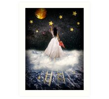 Catch a falling star Art Print