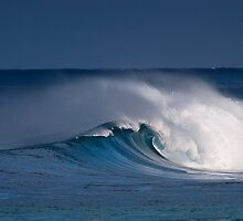 Morning surf at Sunset Beach. by Alex Preiss