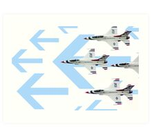 Thunderbirds at World Space Expo 2007 with graphic arrows. Art Print