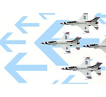 Thunderbirds at World Space Expo 2007 with graphic arrows. Photographic Print