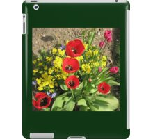 Colourful Corner - Vibrant Red and Pink Tulips iPad Case/Skin