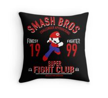 Mushroom Kingdome Fighter Throw Pillow