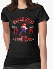 Mushroom Kingdome Fighter Womens Fitted T-Shirt