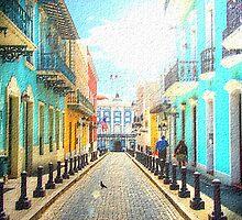 Old San Juan by lilliesartpad
