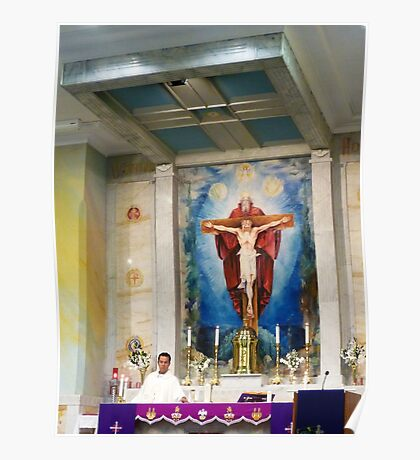 Altar at St Gabriel's Poster