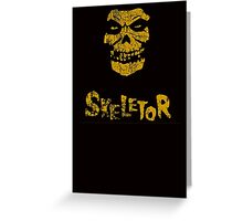 Skeletor Misfits Greeting Card