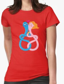 Worms in Love Womens Fitted T-Shirt