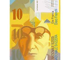 10 Swiss Francs note bill- front side by Nornberg77