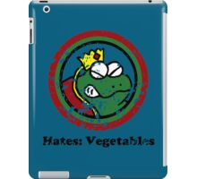 Hates: Vegetables (Battle Damage) iPad Case/Skin