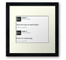 Matt Healy Framed Print